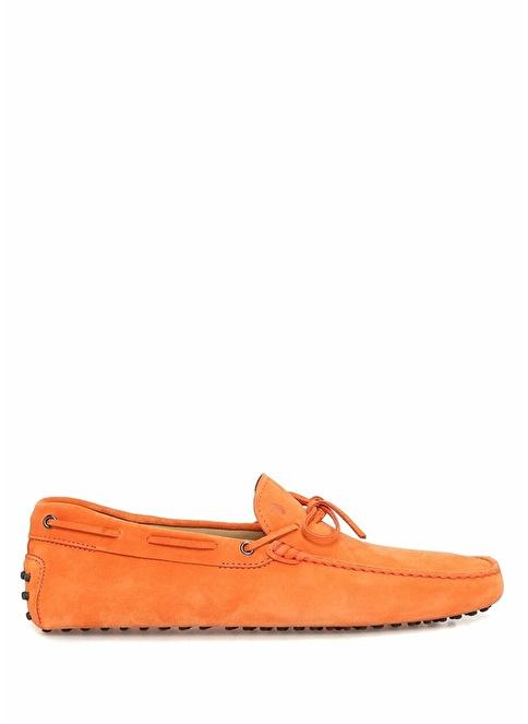Tod's %100 Deri Loafer Ayakkabı Oranj